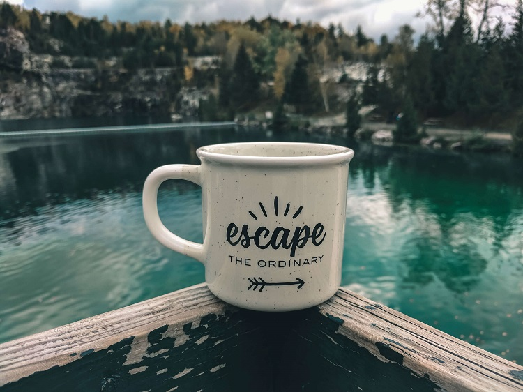 There's nothing like a cup of coffee out in nature