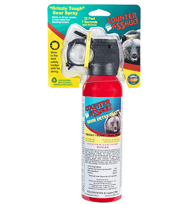 Picture of a Counter Assault bear spray canister