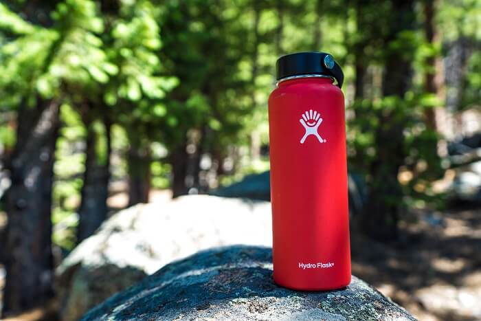 A hydroflask bottle out in the wild