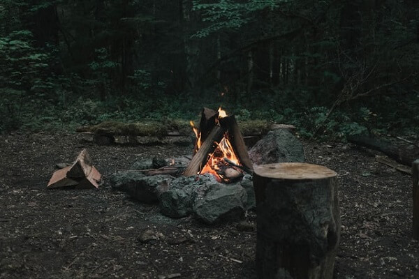 Teepee campfires like this one are the strongest shape by far.